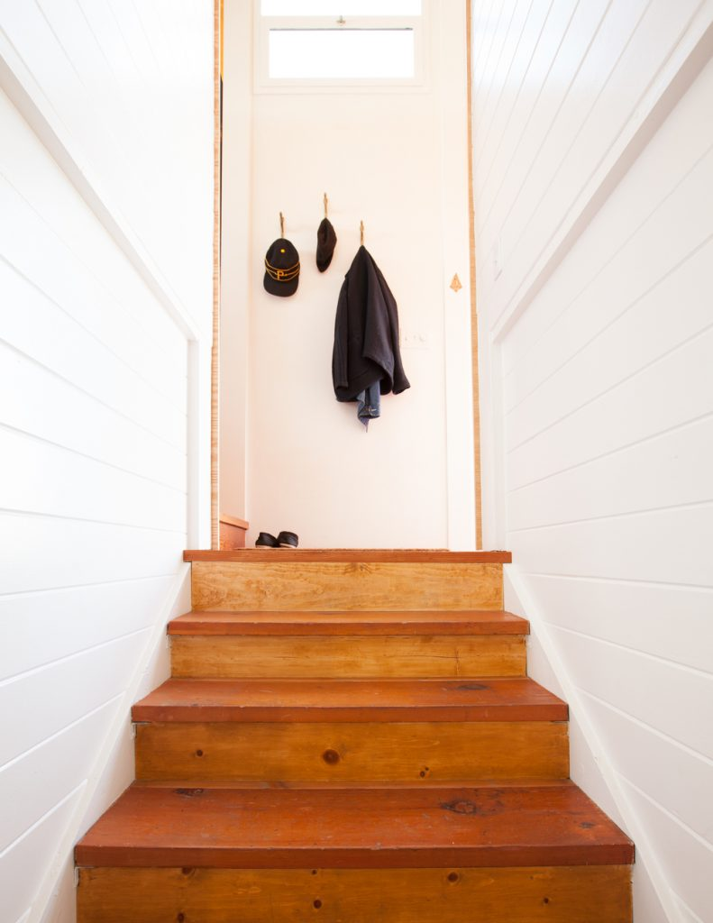 staircase and hooks // Houseboat by Sky Lanigan for Medium Plenty