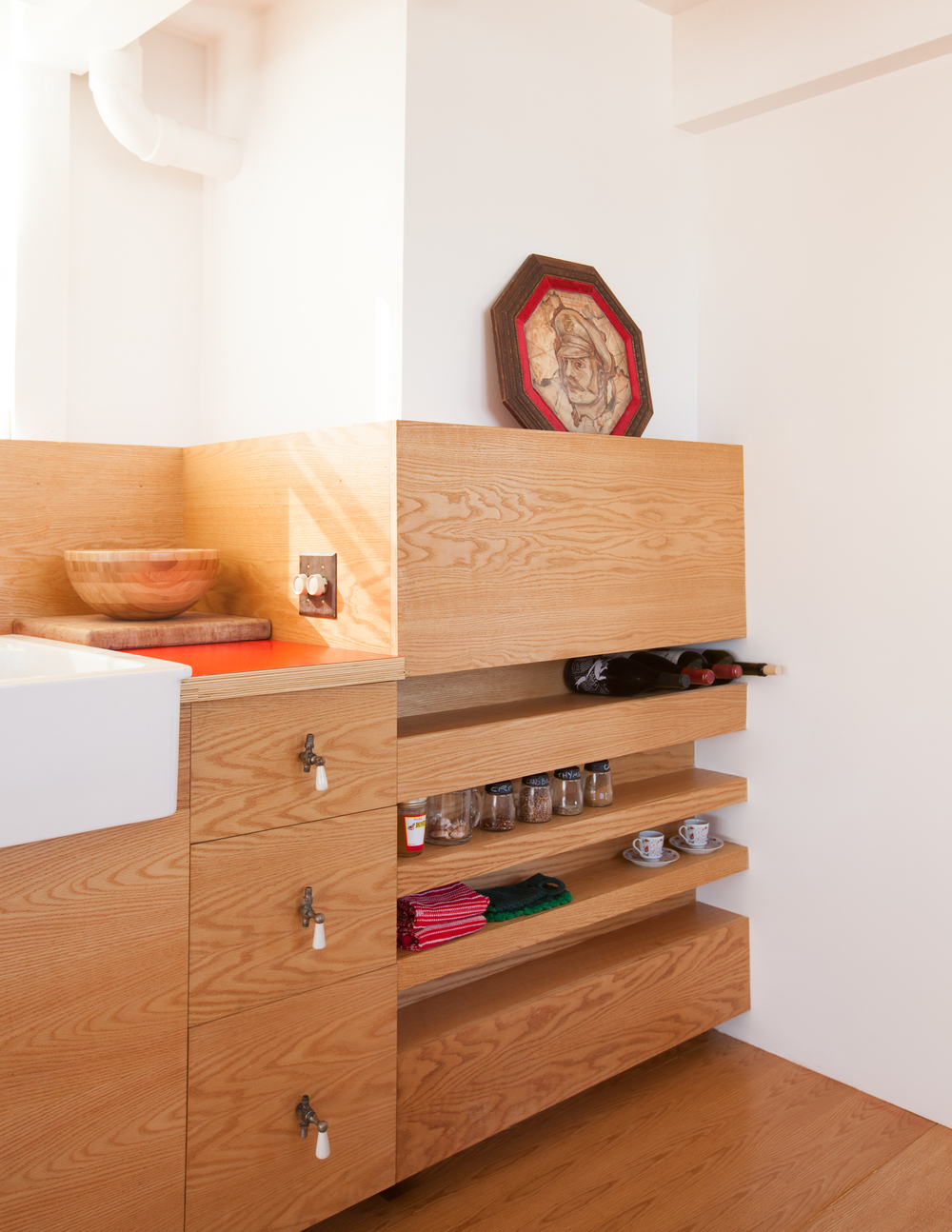 shelving and cabinets // Houseboat by Sky Lanigan for Medium Plenty