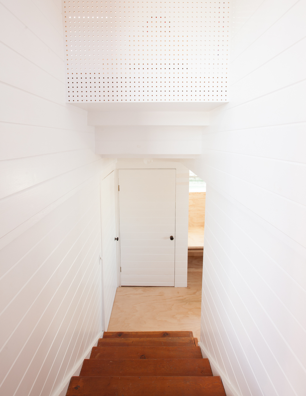 pegboard and stairway // Houseboat by Sky Lanigan for Medium Plenty