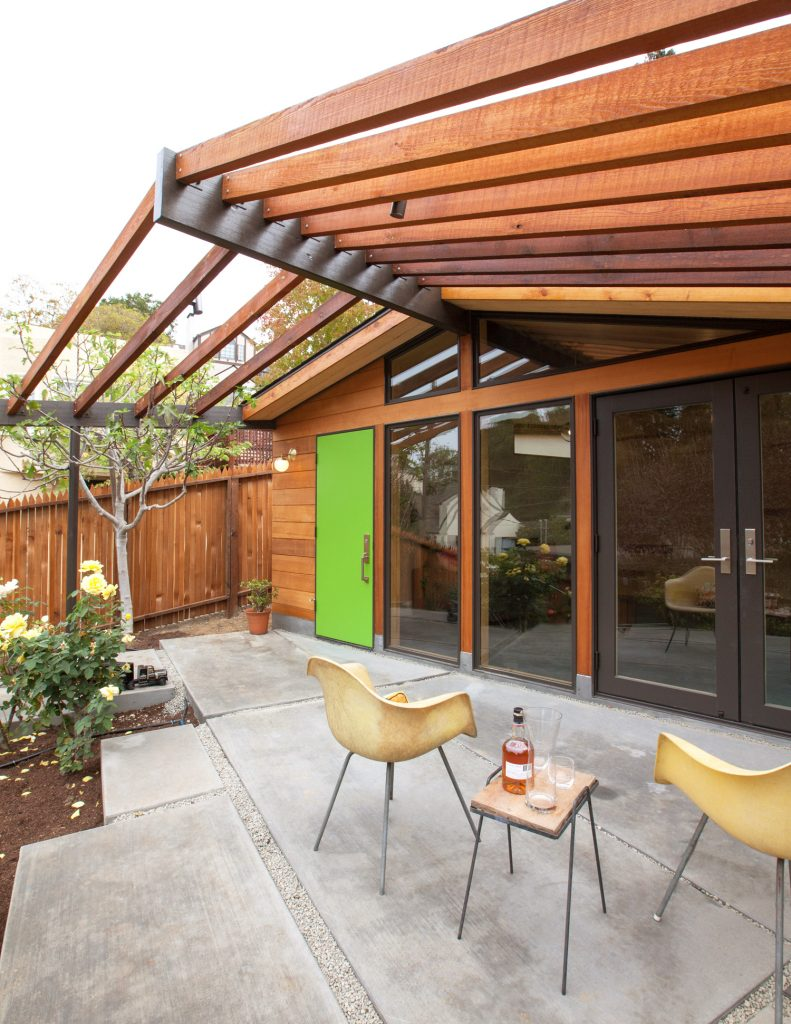 patio and entryway // Prospect House by Sky Lanigan for Medium Plenty