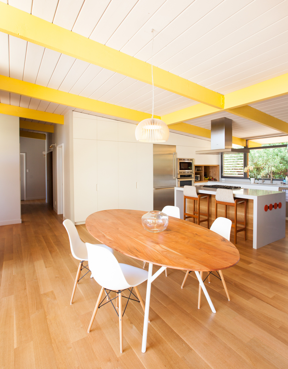 dining table and lighting fixture // Sunset House by Sky Lanigan for Medium Plenty