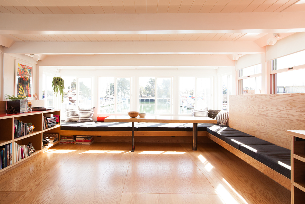 built in seating // Houseboat by Sky Lanigan for Medium Plenty
