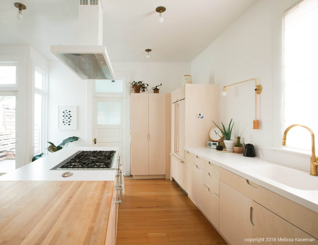 light filled kitchen with brass fixtures // Carriage House by Sky Lanigan for Medium Plenty