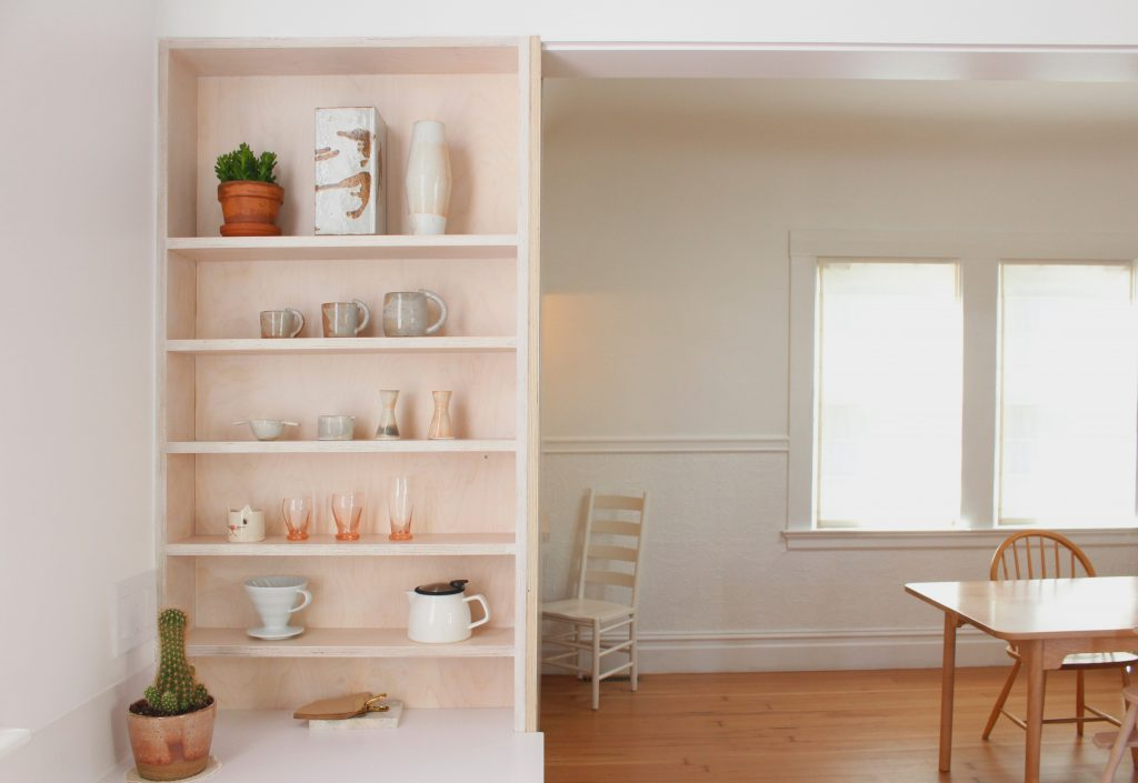 cabinet and dining room // Carriage House by Sky Lanigan for Medium Plenty