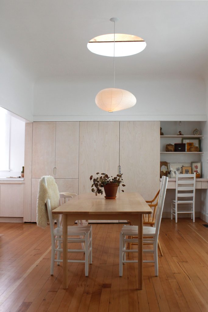 dining room and skylight // Carriage House by Sky Lanigan for Medium Plenty
