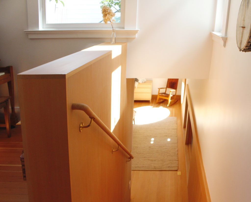 stairway to bedroom // Carriage House by Sky Lanigan for Medium Plenty
