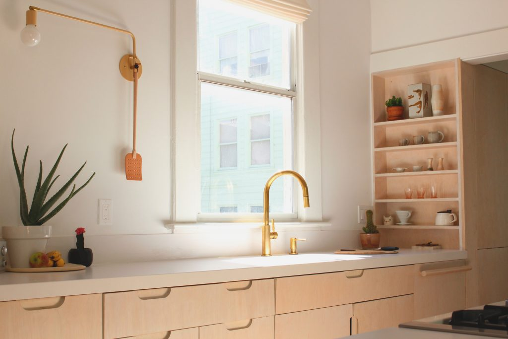sink and cabinets // Carriage House by Sky Lanigan for Medium Plenty